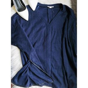 onetheland Sweaters - ❤️ 3 items for $20❤️ V-Neck Blue Sweater 🎀